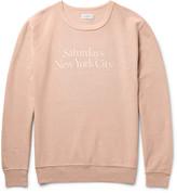 Saturdays Nyc - Bowery Printed Garment-dyed Cotton-twill Sweatshirt