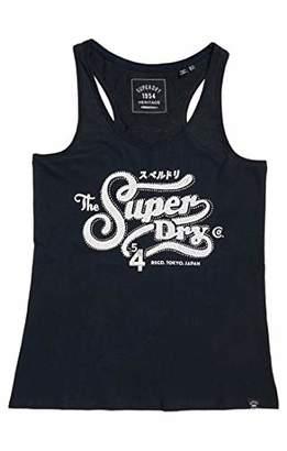 Superdry Women's Super 54 Rhinestone Entry Vest Top,L (Size:)