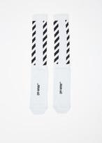 Off-White silver striped shiny socks