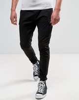 Pull&Bear Relaxed Cargo Pants In Black