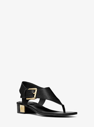Michael Kors London Saffiano Leather Sandal