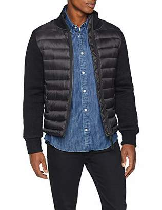 Schott NYC Men's ROBSON1 Jacket, Black, Medium (Size: M)