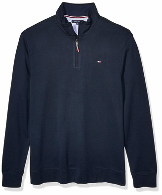 Tommy Hilfiger Men's Size Big and Tall 1/4 Zip Pullover Sweater
