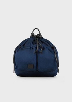 Emporio Armani Balloon-Shaped Backpack In Crinkled Satin