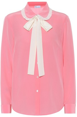 RED Valentino silk crepe-de-chine shirt