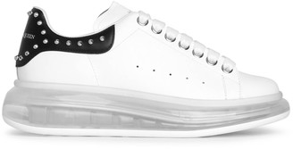 Alexander McQueen White and black studded classic sneakers
