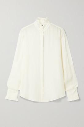 Nili Lotan Aleia Ruffled Silk-chiffon Shirt - Ivory