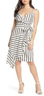 Chelsea28 Sleeveless Stripe Ruffle Dress (Regular & Petite)