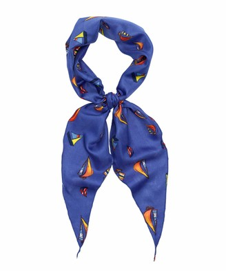 Colorplay Sailboat Diamond Scarf - Blue - One size