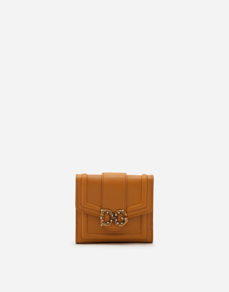 Dolce & Gabbana Amore French Flap Wallet In Calfskin