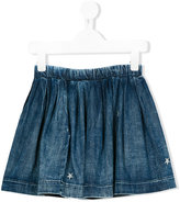 Diesel pleated denim skirt