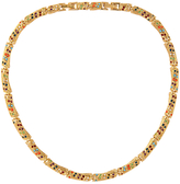 Susan Caplan Vintage 1980s D'Orlan 22ct Gold Plated Faux Pearl and Swarovski Crystal Collar Necklace, Gold/Multi