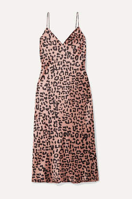 CAMI NYC The Raven Leopard-print Silk-charmeuse Dress - Blush