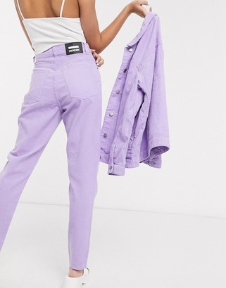Dr. Denim Nora high rise cord mom jean in lilac