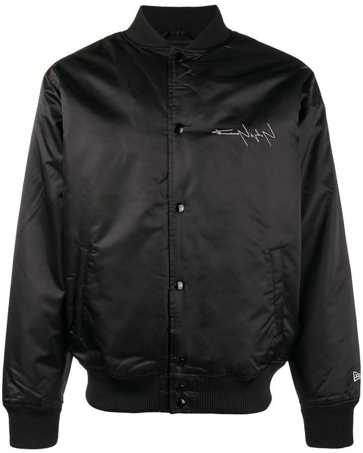 Yohji Yamamoto New Era print bomber jacket