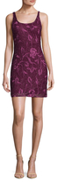 Aidan Mattox Sleeveless Scoopneck Beaded Dress