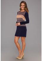 Jessica Simpson L/S Shirt Hem Dress w/ Contrast Panel