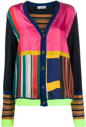Pierre Louis Mascia colour block v-neck cardigan
