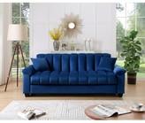 Everly Comfortable Velvet Storage Sleeper Sofa Quinn Upholstery Color: Blue