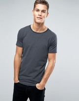 Lindbergh T-Shirt In Gray Marl And Navy Stripe