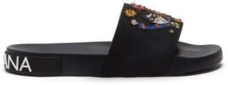 Dolce & Gabbana Stylist Patches Rubber Slides
