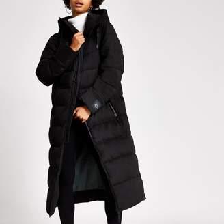 River Island Womens Dua Lipa X Pepe Jeans Black puffer coat