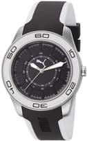 Puma Women's Tube PU103032005 Two-Tone Polyurethane Quartz Watch with Dial