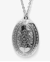 Forever 21 Oval Locket Necklace