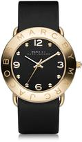 Marc by Marc Jacobs Amy 36mm Black Leather Strap Watch