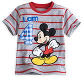 Disney Mickey Mouse ''I Am 4'' Birthday Tee for Boys