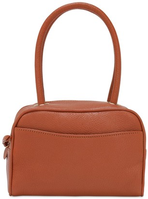 BY FAR Martin Grained Leather Top Handle Bag
