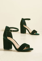 Have the Upper Grande Velvet Heel in Forest in 5.5