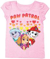 Freeze PAW Patrol Light Pink Heart Puff-Sleeve Tee - Toddler & Girls