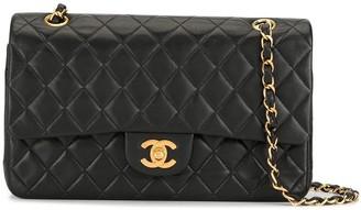 Chanel Pre Owned 2001 CC logo double flap shoulder bag