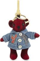 Burberry Denim Thomas Bear cashmere keyring
