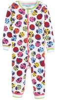 Hatley Rainbow Ladybug Organic Cotton Fitted One-Piece Pajamas