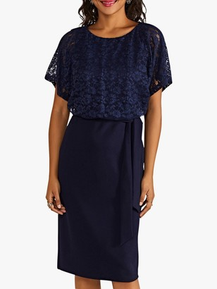 Yumi Lace Bodice Dress, Navy