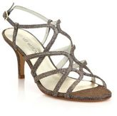 Stuart Weitzman Turning Up Shimmer Strappy Sandals