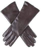 Black Dark Brown Cashmere Lined Leather Gloves