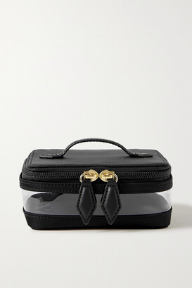 Paravel Mini See-all Leather-trimmed Nylon And Tpu Cosmetics Case - Black