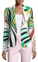 Emilio Pucci Printed Flap-Pocket One-Button Blazer