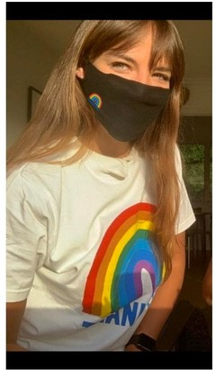 Little Mistress X Kindred Rainbow Thank You Nhs Black Face Mask 2-Layer / Soft Touch For Adults -Pack of 50