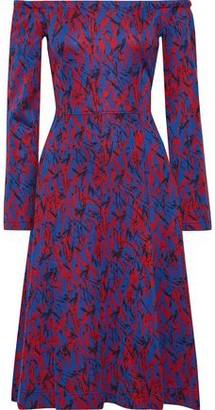 Derek Lam Off-the-shoulder Cotton-blend Jacquard Dress