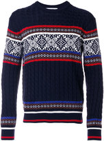 MSGM jacquard crew sweater - men - Acrylic/Wool - L