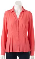Dana Buchman Women's Release-Pleat Shirt