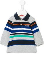 HUGO BOSS striped polo shirt