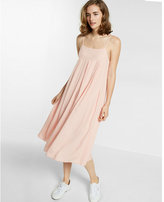 Express button-back apron slip dress