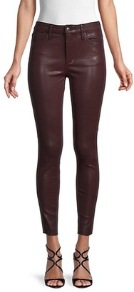 BCBGeneration High-Rise Skinny Ankle Faux Leather Jeans