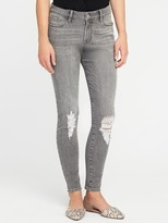 Old Navy Mid-Rise Gray Rockstar Jeans for Women