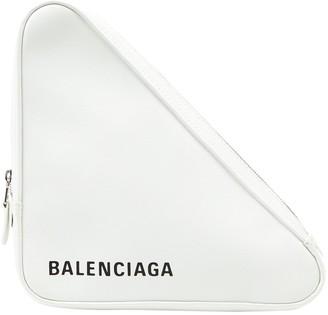 Balenciaga Triangle White Leather Clutch bags